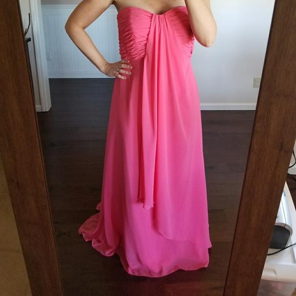 43% off Mori Lee Dresses Size 18 Strapless Chiffon Dress | Poshmark
